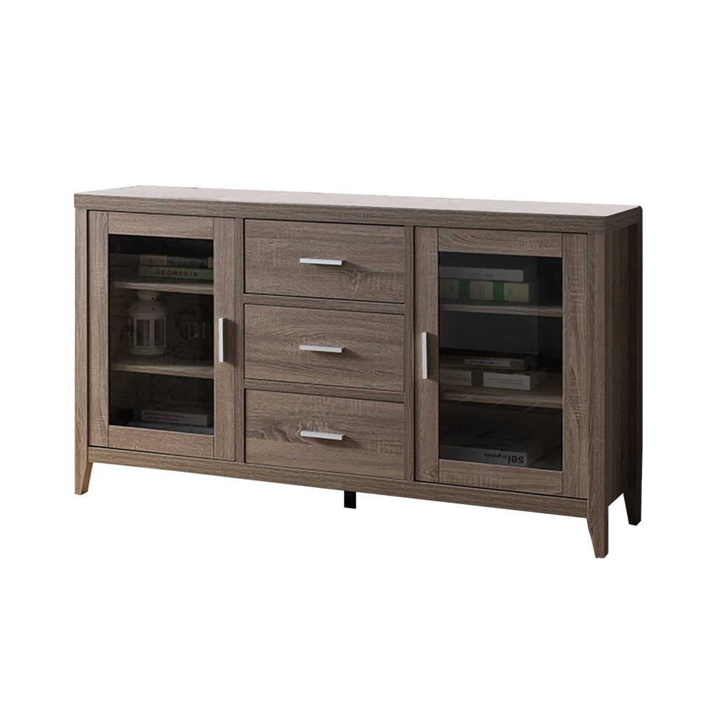 Bailey 60 Inches Wooden TV Stand With Three Drawers and Side Door