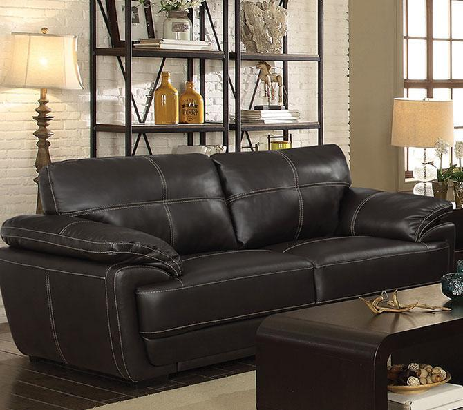 Contemporary Style Leatherette Sofa