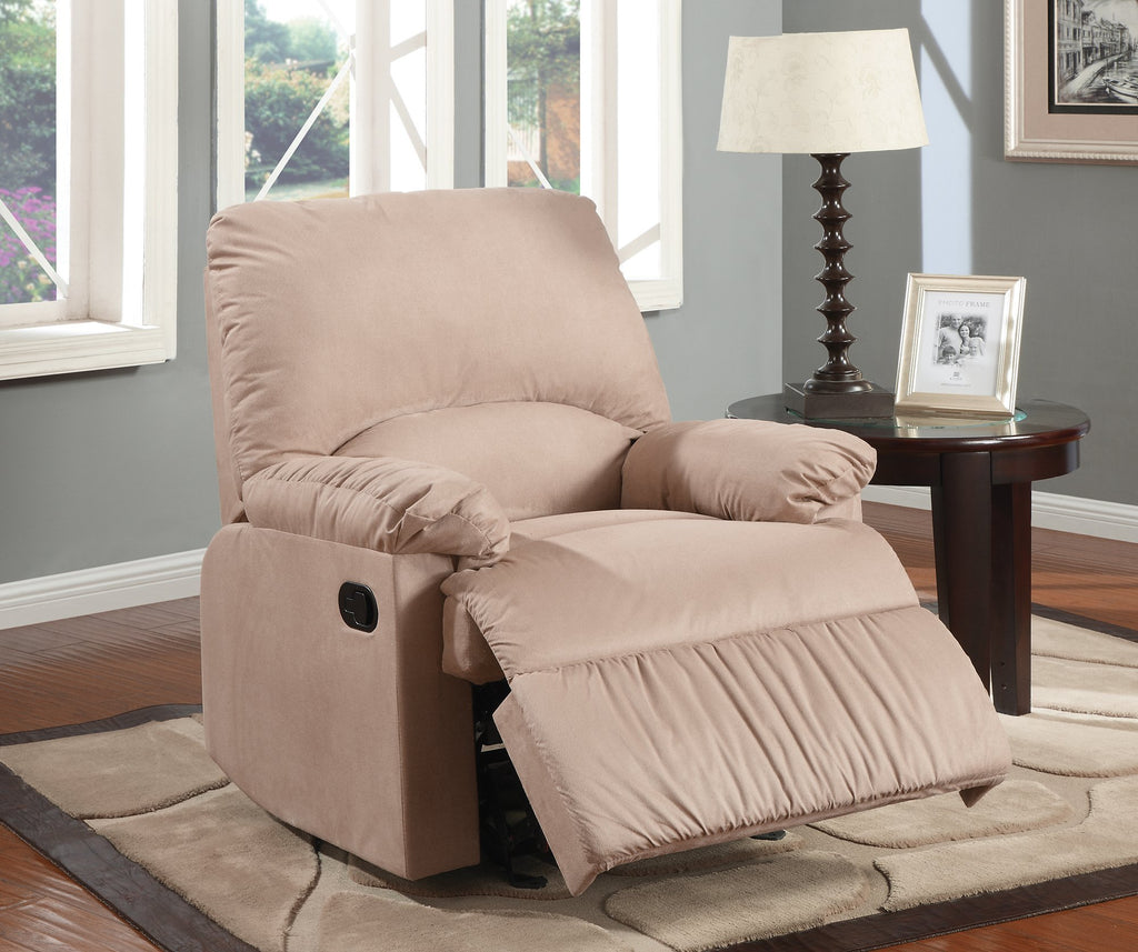 Carmine Plush Padded Glider Recliner Chair