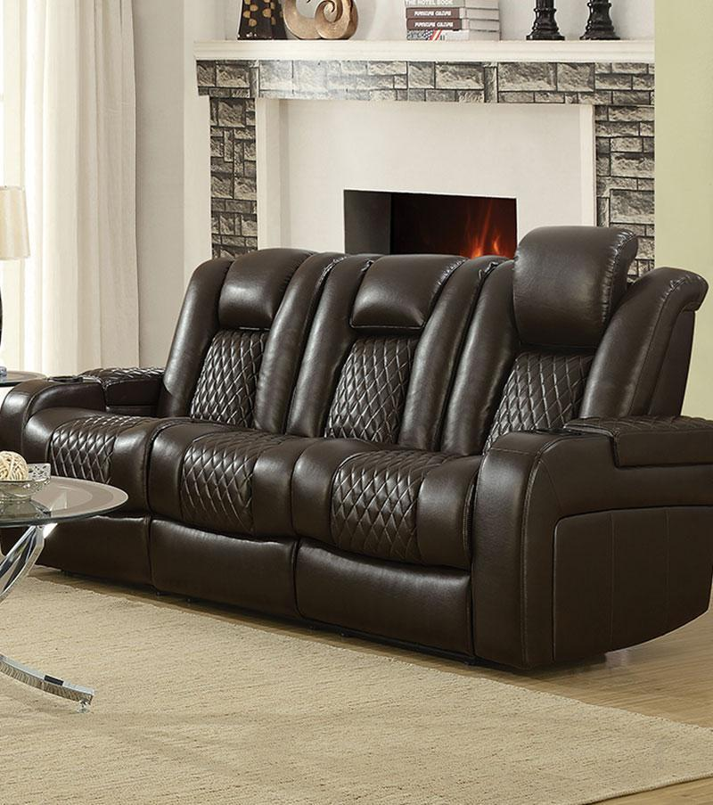 Romano Leatherette Power Motion Sofa