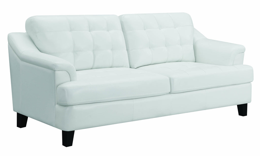 Faux Leather Upholstered Wooden Sofa