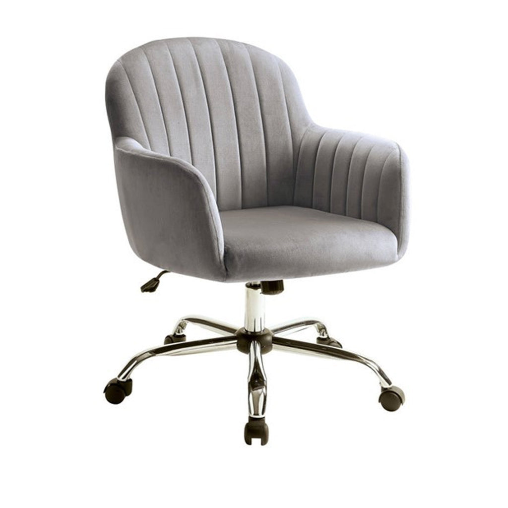 Channel Tufted Fabric Upholstered Office Chair