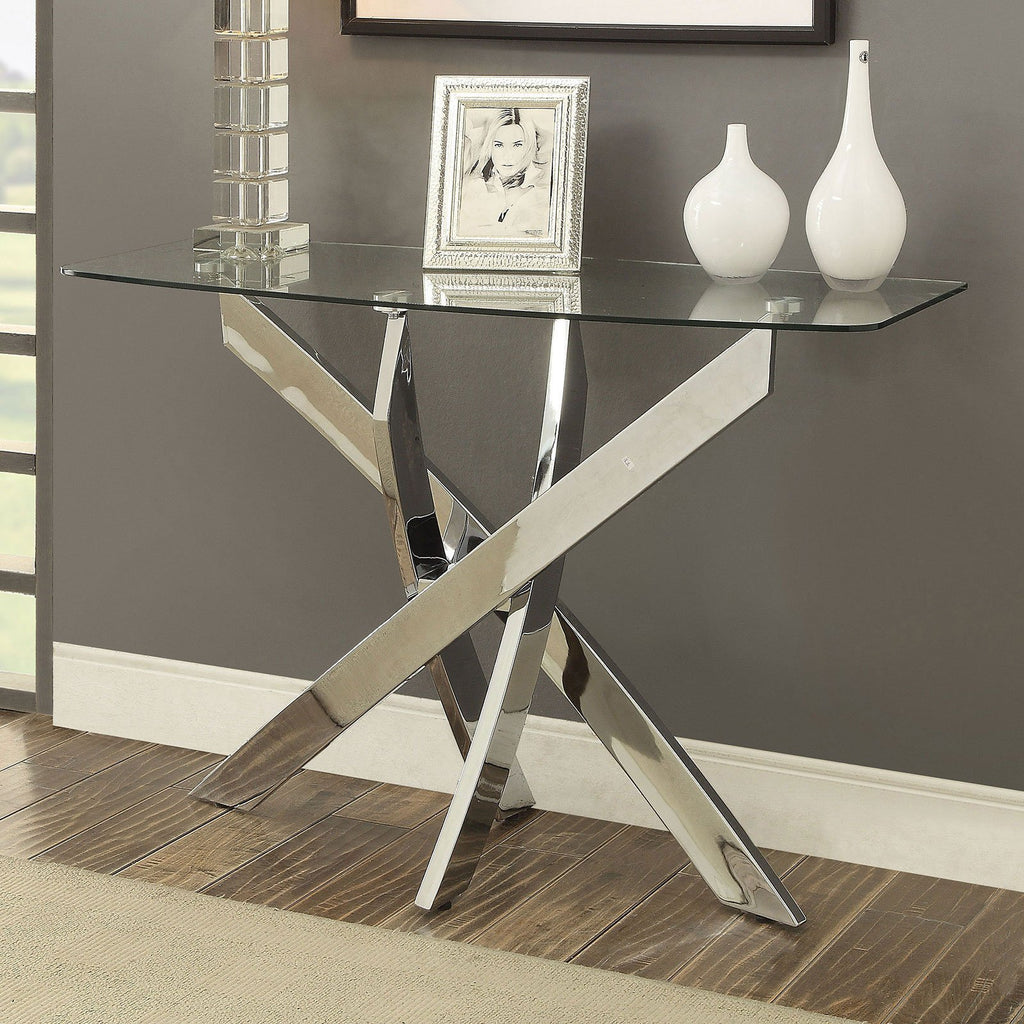 Aldan Rectangular Glass Top Sofa Table