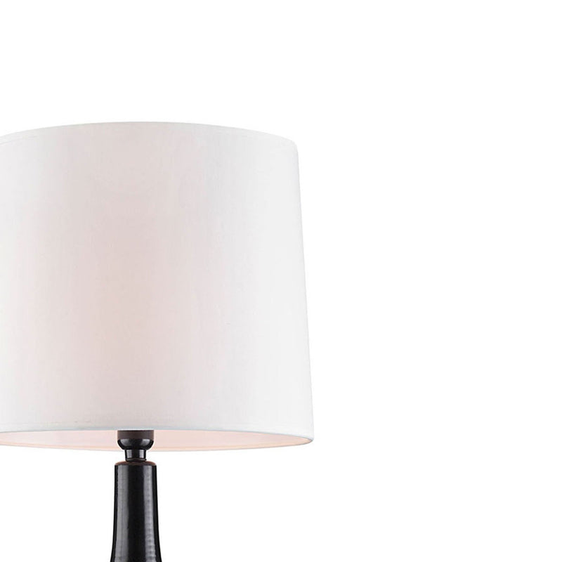Table Lamp with Textured Ceramic Base