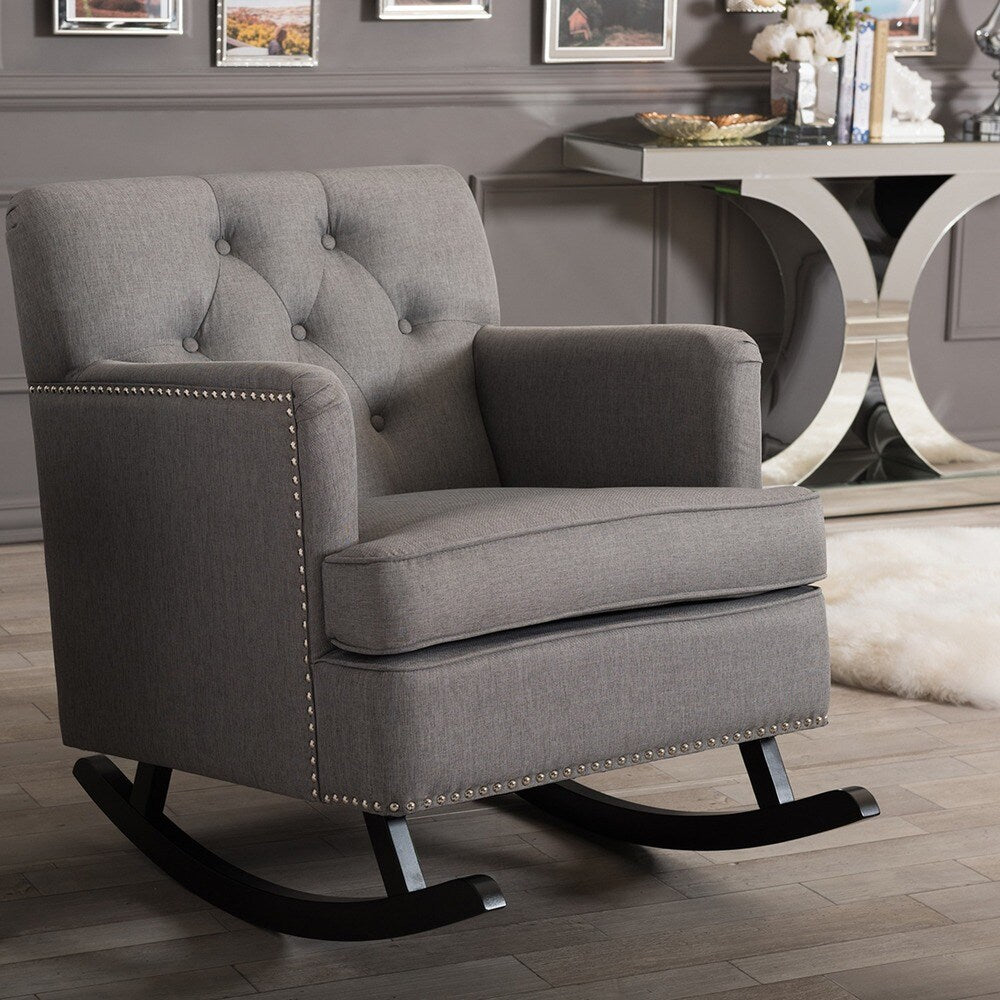 Jarnis Contemporary Fabric Rocking Chair - RoomsandDecor.com