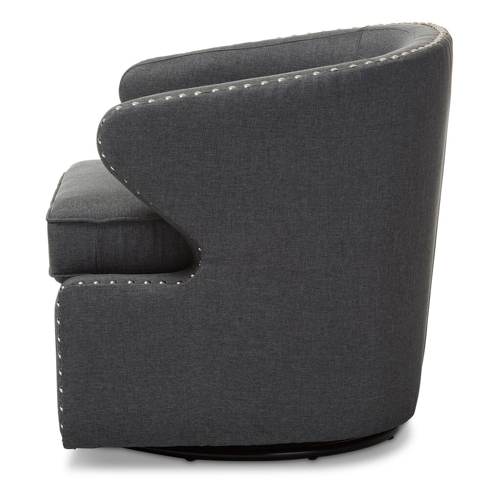 Mid-century Modern Upholstered Swivel Armchair - RoomsandDecor.com