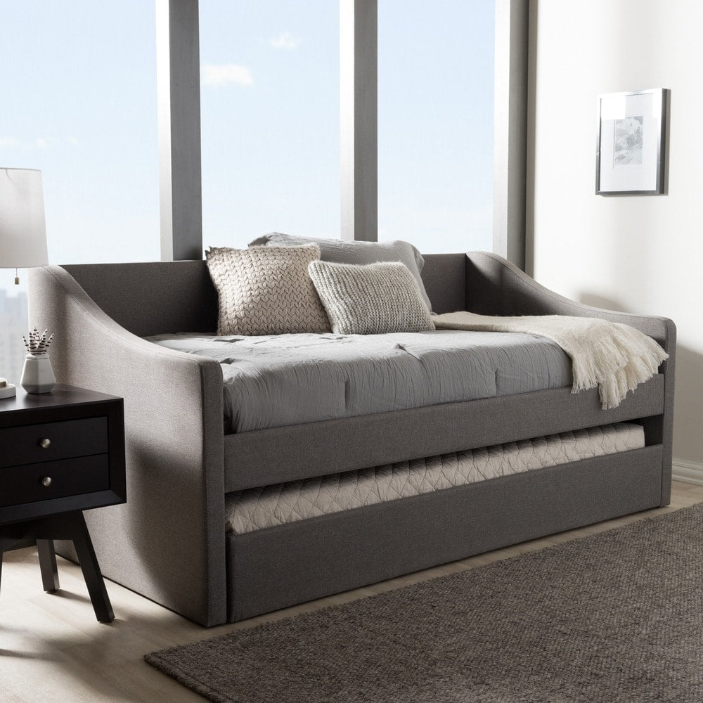 Baxton Studio Kallikrates Modern Daybed with Trundle Bed - Grey