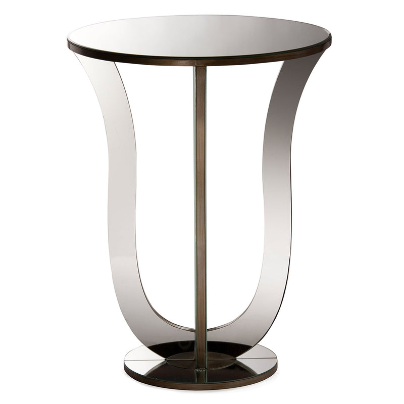 Kylie Modern Mirrored Accent End Table - RoomsandDecor.com