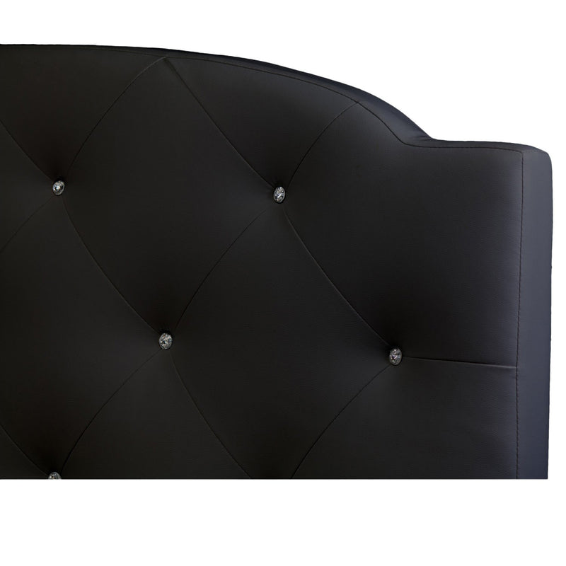 O'Leary Black Modern Tufted Platform Queen Bed - RoomsandDecor.com