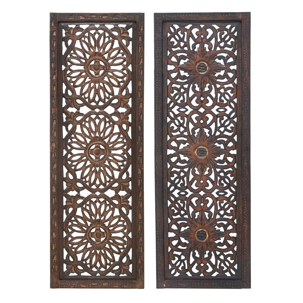 Floral Hand Carved Wooden Wall Decor - RoomsandDecor.com