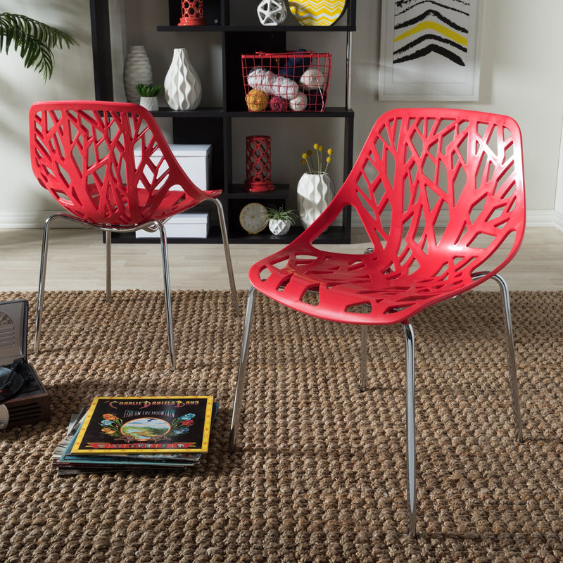 Castleberry Plastic Accent / Dining Chairs (Set of 2) - RoomsandDecor.com