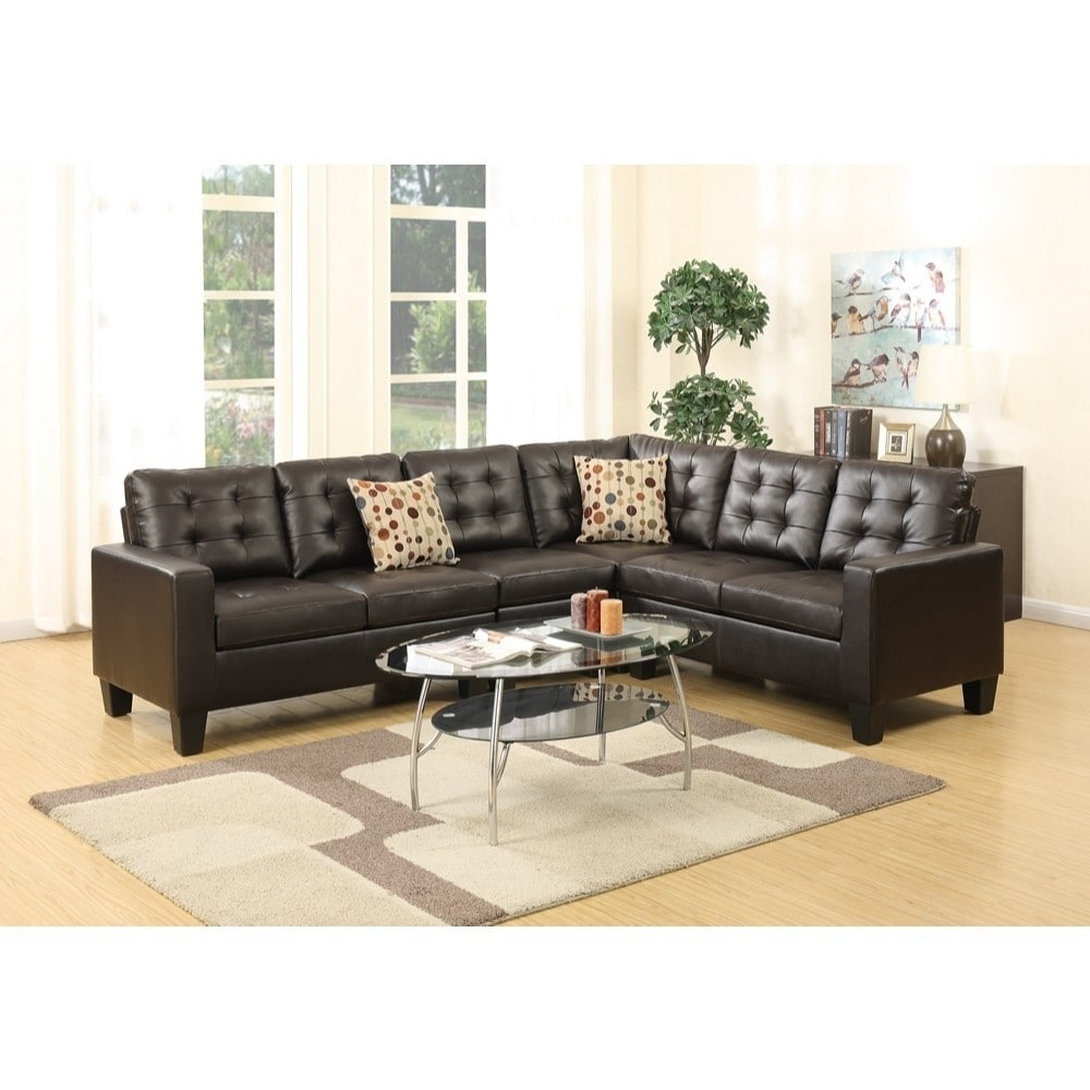 Vitora Bonded Leather 4 Pieces Sectional - RoomsandDecor.com