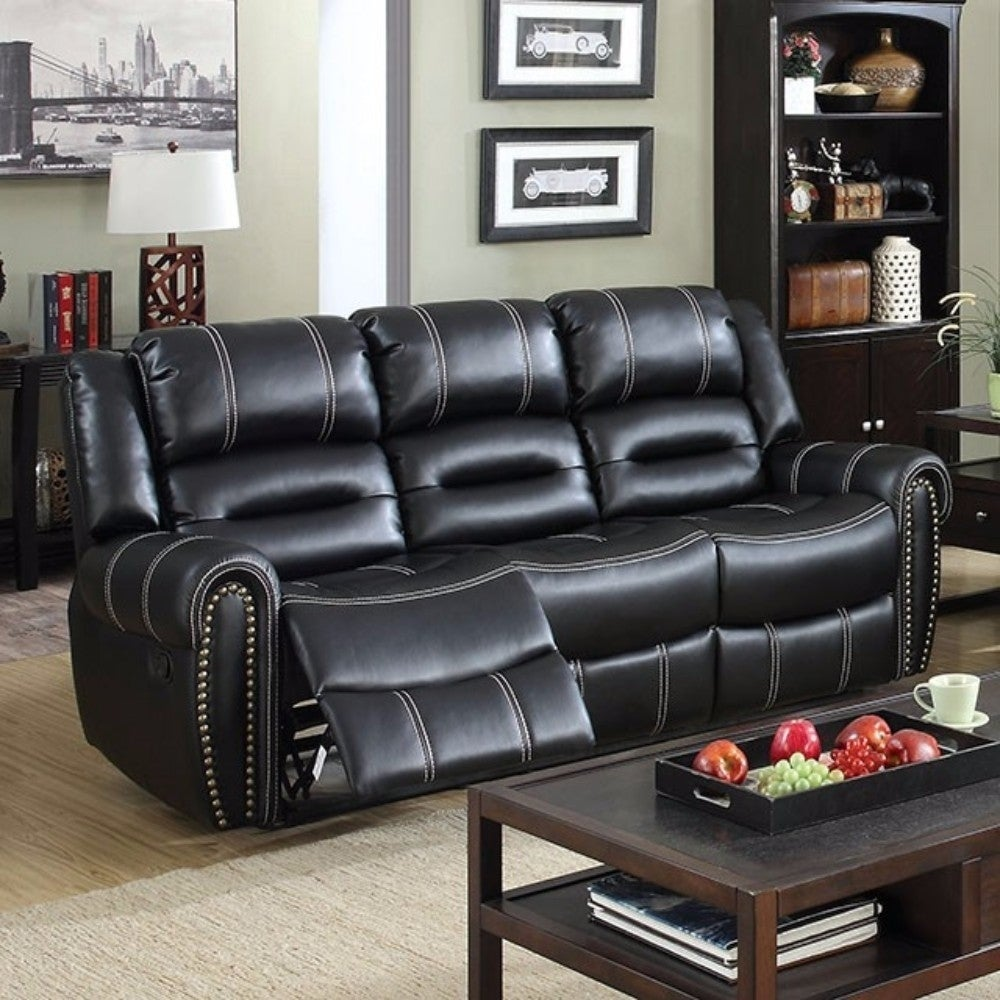 Dunwoody Leatherette Recliner Sofa - RoomsandDecor.com