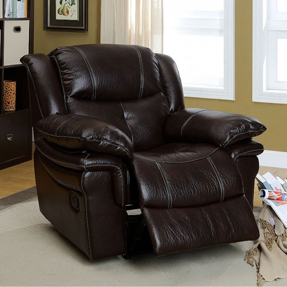 CORDOVA Transitional Recliner Chair, Dark Brown - RoomsandDecor.com