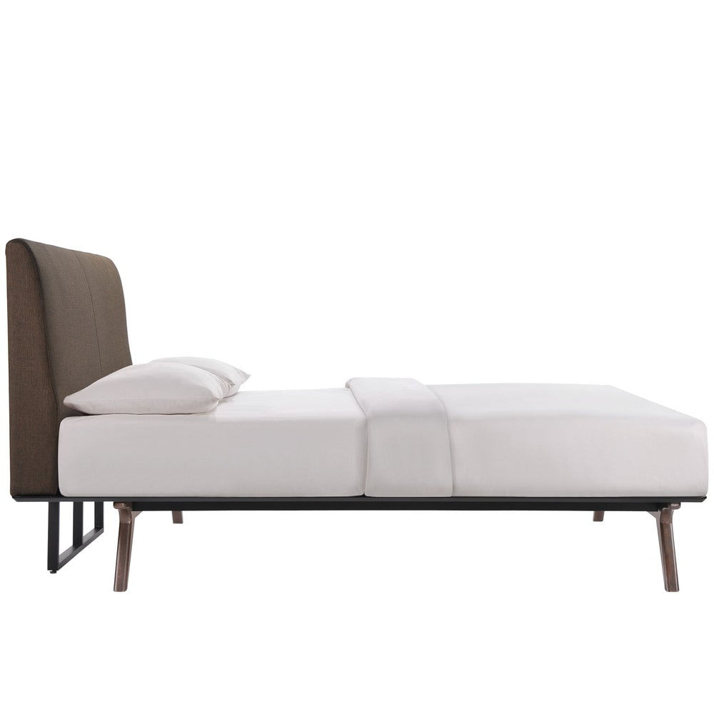 Cappuccino Brown Tracy Wood Queen-sized Bed Frame