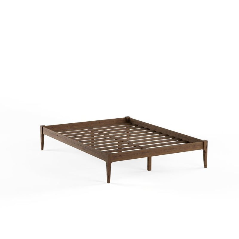 Mid-century Modern Solid Wood Platform Bed - Queen - RoomsandDecor.com
