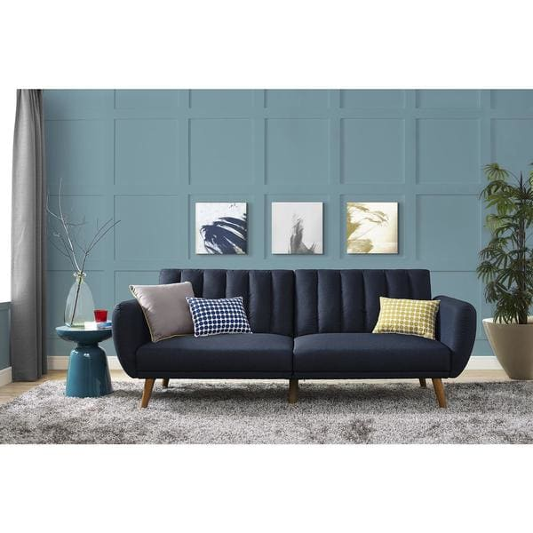 Hayden Grey Tufted Storage Ottoman Bench