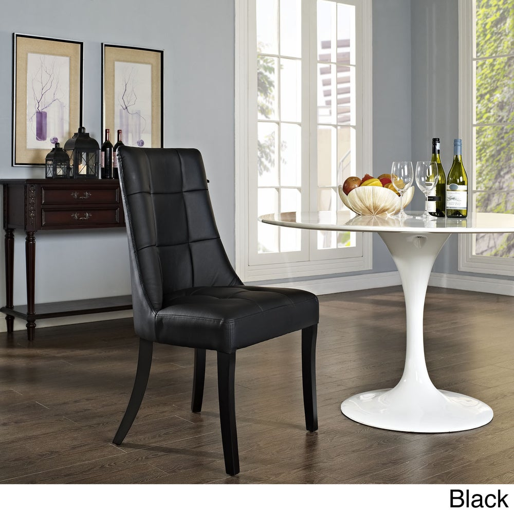 Dining Vinyl Side Chair - White