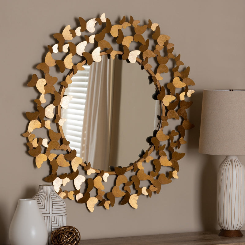 Antique Gold Butterfly Wall Mirror - RoomsandDecor.com