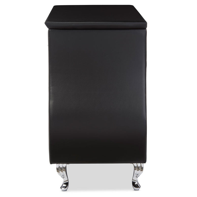Contemporary Black Faux Leather 6-Drawer Dresser - RoomsandDecor.com