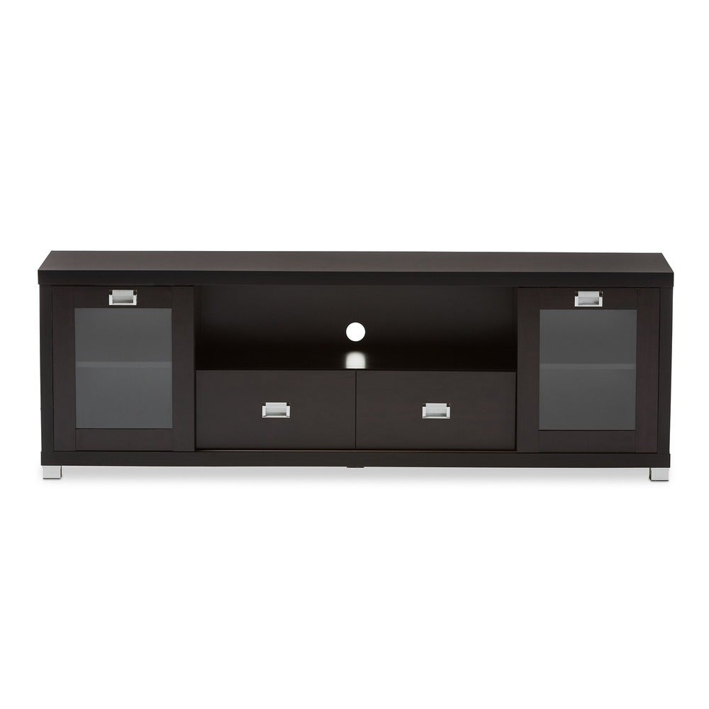 Contemporary Dark Brown Wood TV Stand by Baxton Studio - RoomsandDecor.com