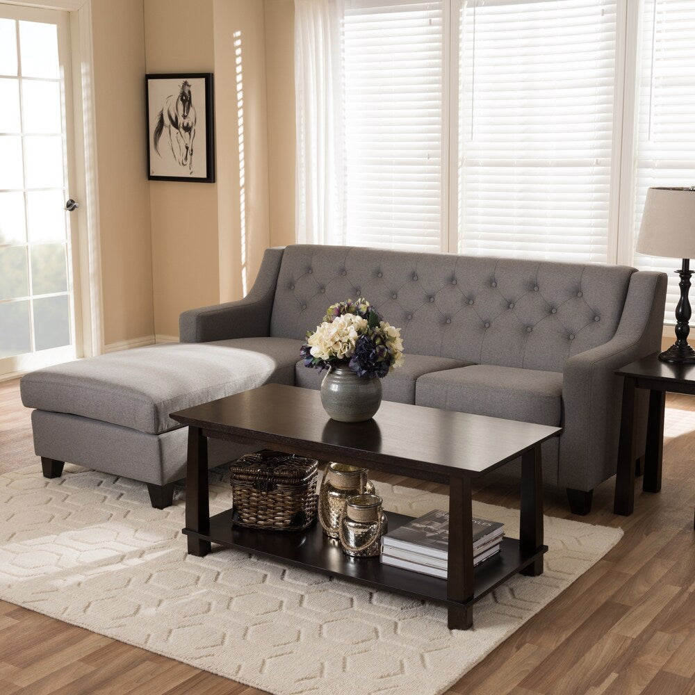 Contemporary Fabric 2-piece Sectional Sofa - RoomsandDecor.com