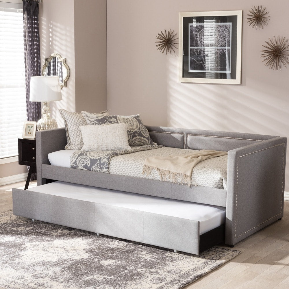 Contemporary Fabric Daybed with Trundle - RoomsandDecor.com