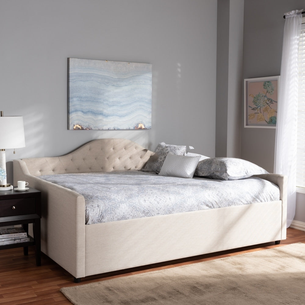 Contemporary Fabric Upholstered Daybed - RoomsandDecor.com