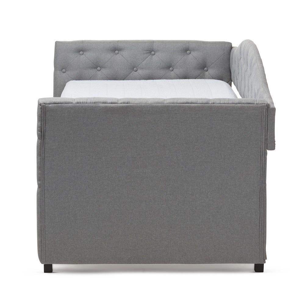 Contemporary Grey Fabric Daybed - RoomsandDecor.com