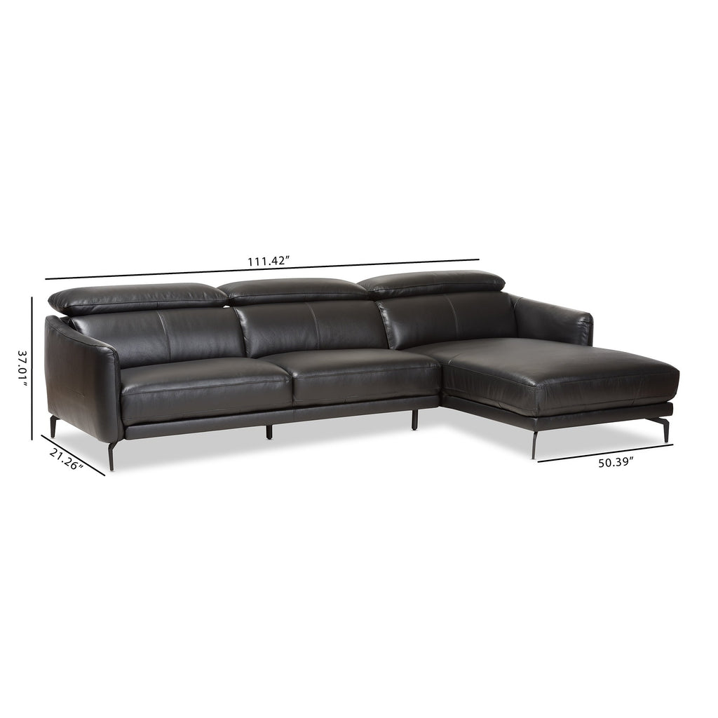 Tribeca Modern Leather Sectional Sofa - RoomsandDecor.com