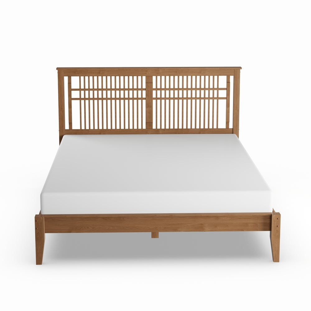 Contemporary Wood Queen Platform Bed - RoomsandDecor.com
