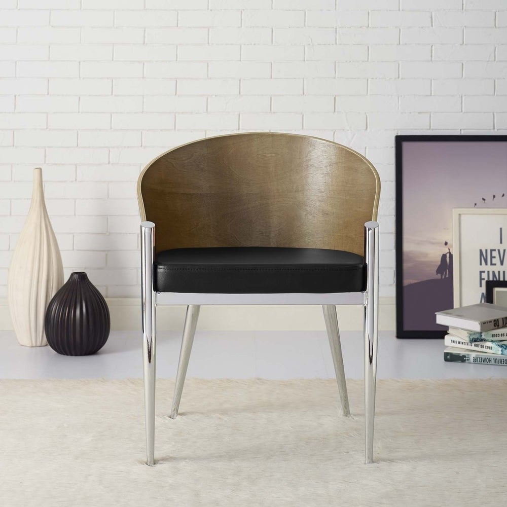 Cooper Walnut/ Black Dining Chair - Walnut