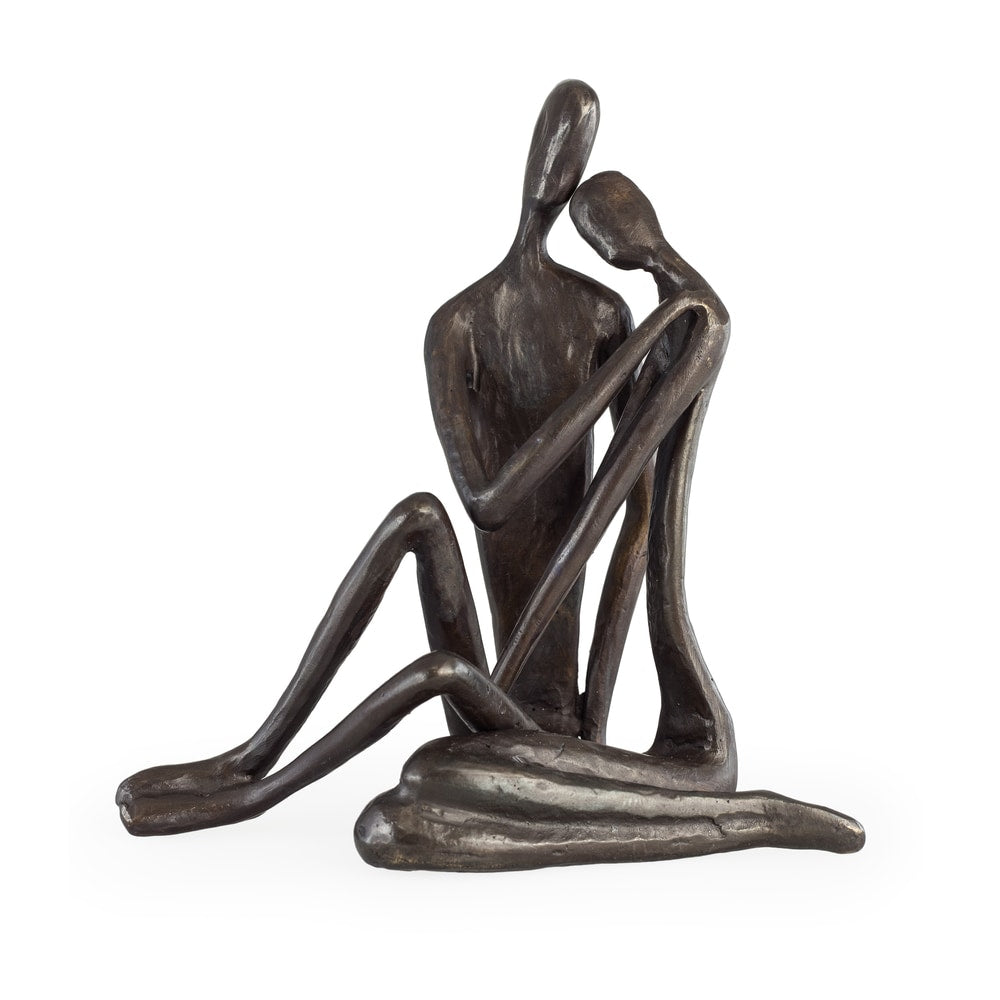 Embracing Couple Large Cast Iron Sculpture