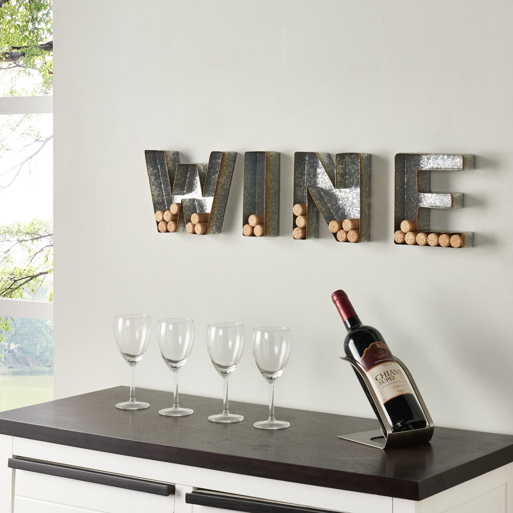 "Wall Mount ""WINE"" Letter Set for Corks - Wall Art"