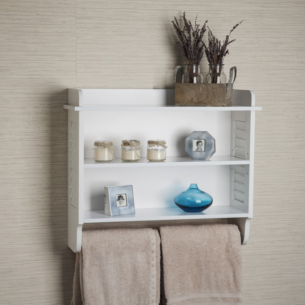 Danya B. White Bath Cabinet with Adjustable Shelf