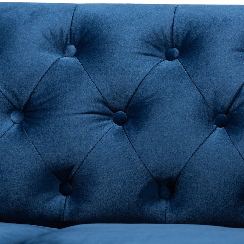 Emma Traditional and Transitional Upholstered Chesterfield Sofa - RoomsandDecor.com