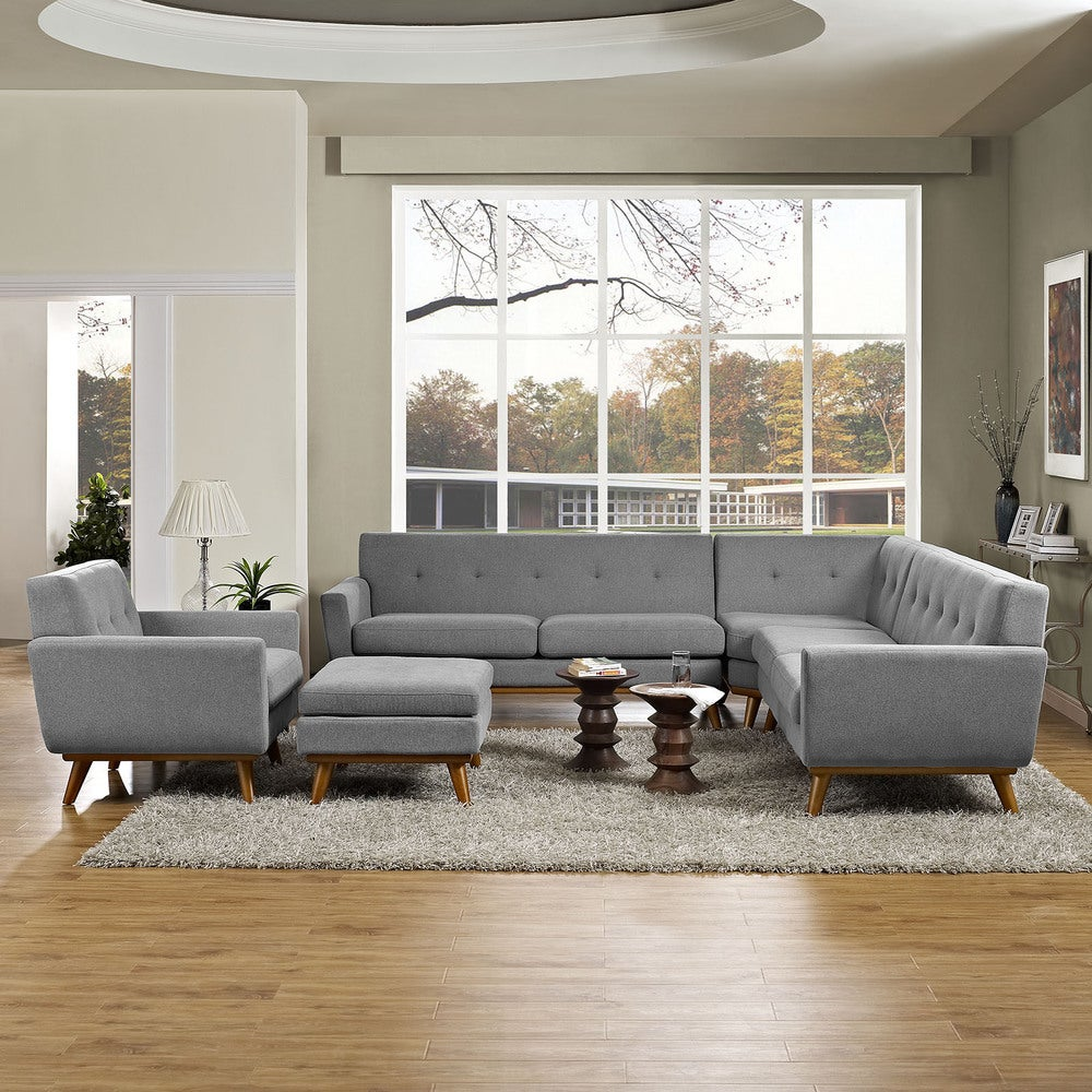 Engage 5-piece Sectional Sofa - Azure