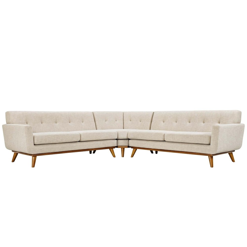 Engage L-Shaped Sectional Sofa - Beige
