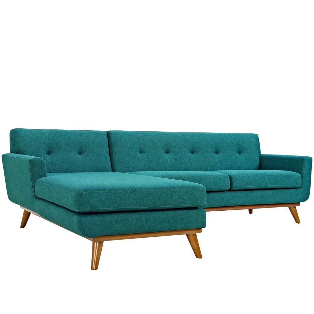Engage Left-Facing Sectional Sofa - Teal