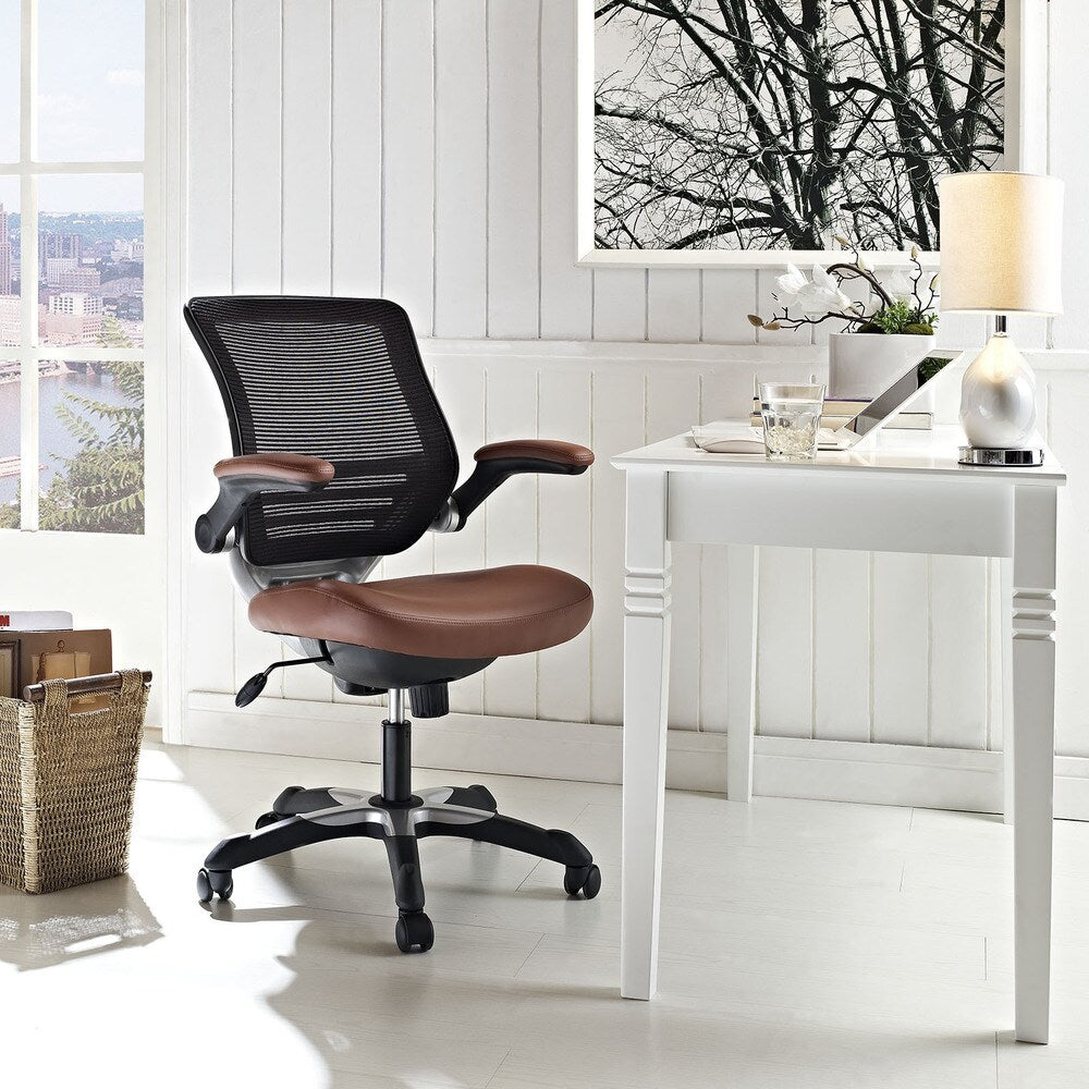 Expedition Mesh/ Black Leatherette Office Chair - Black
