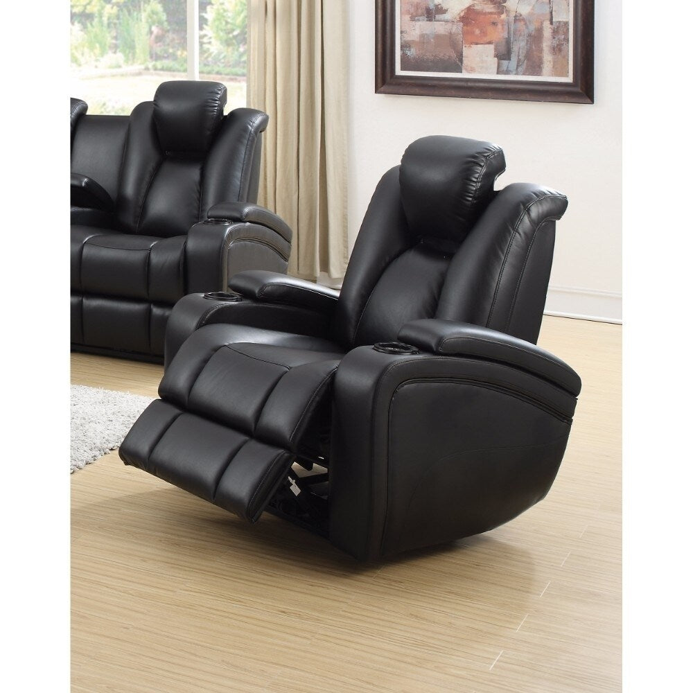 Extraordinary Power Recliner with Adjustable Headrest, Black - RoomsandDecor.com