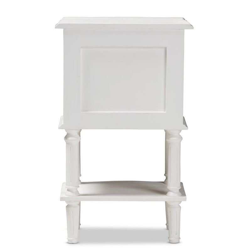 Farmhouse White Finished 2-Drawer Nightstand - RoomsandDecor.com