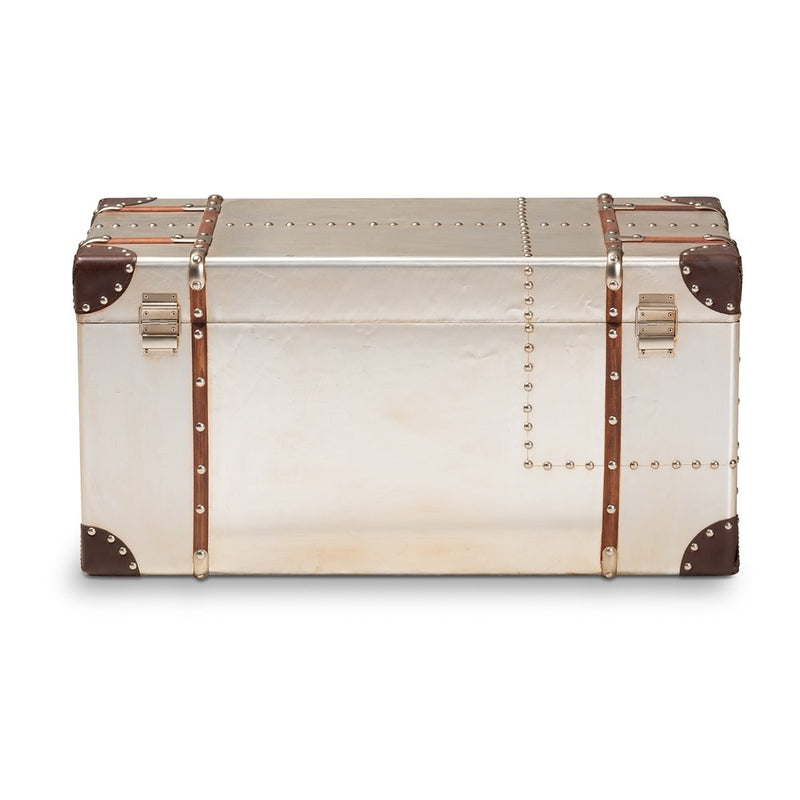 French Industrial Storage Trunk Coffee Table - RoomsandDecor.com