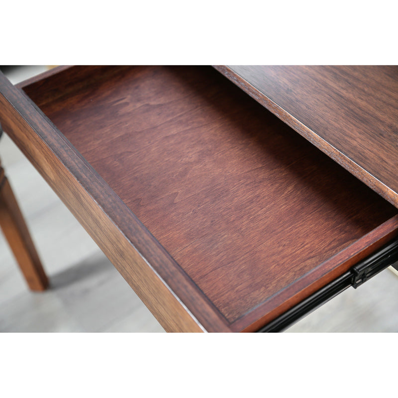 Contemporary 60-inch Light Walnut Desk - RoomsandDecor.com