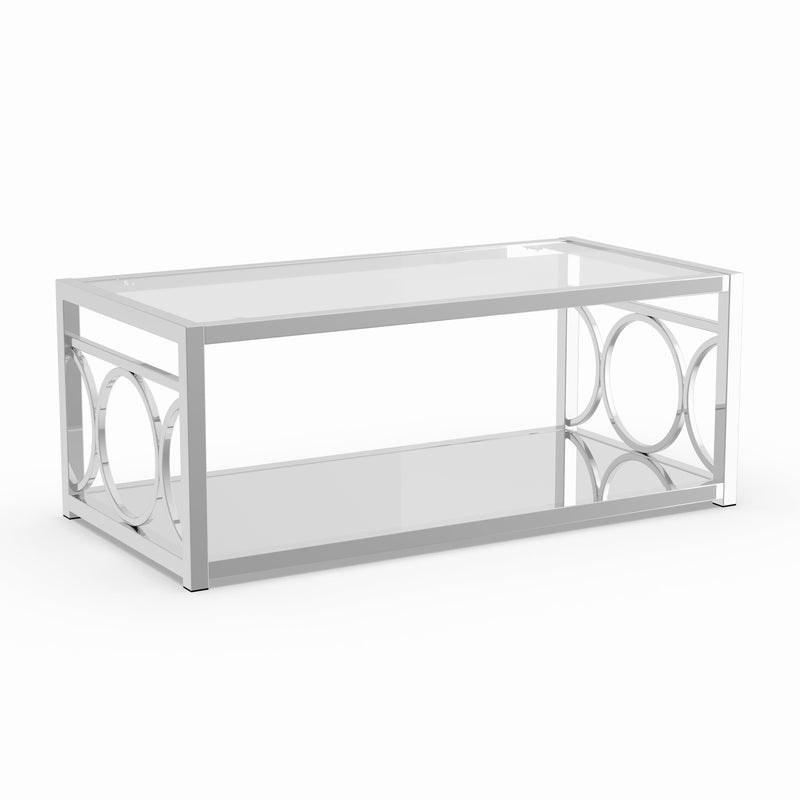 Atlanta Contemporary Glass Top Coffee Table - RoomsandDecor.com