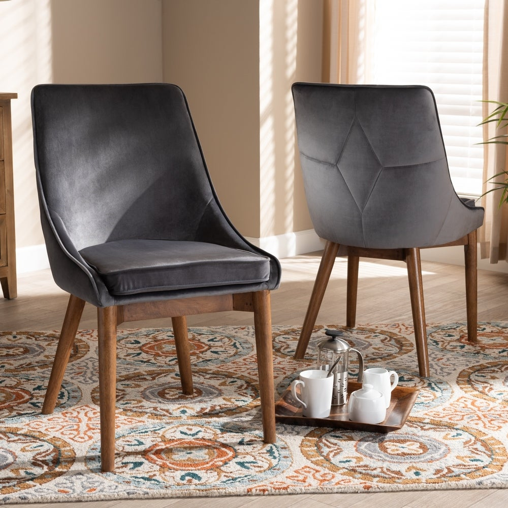 Gilmore Modern and Contemporary 2-Piece Dining Chair Set - Grey
