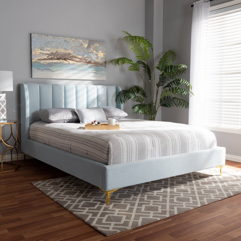 Inspire Fabric Platform Queen Bed - RoomsandDecor.com