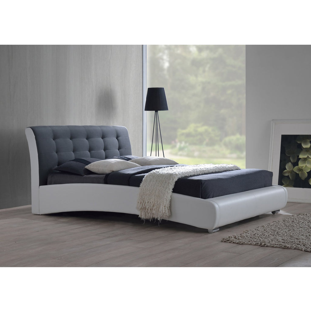 Guerin Contemporary White Queen-size Platform Bed - RoomsandDecor.com