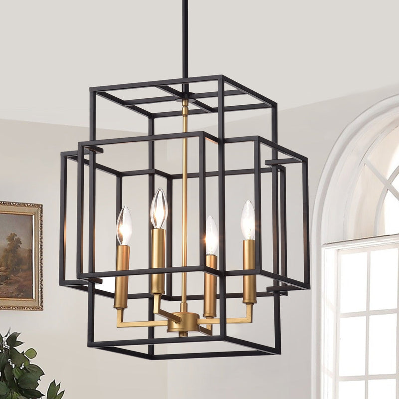 Lamp Black and Gold Chandelier - RoomsandDecor.com