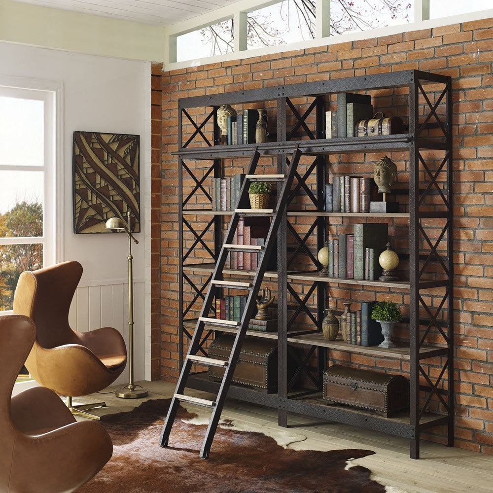 Headway Brown Wood Shelving Unit